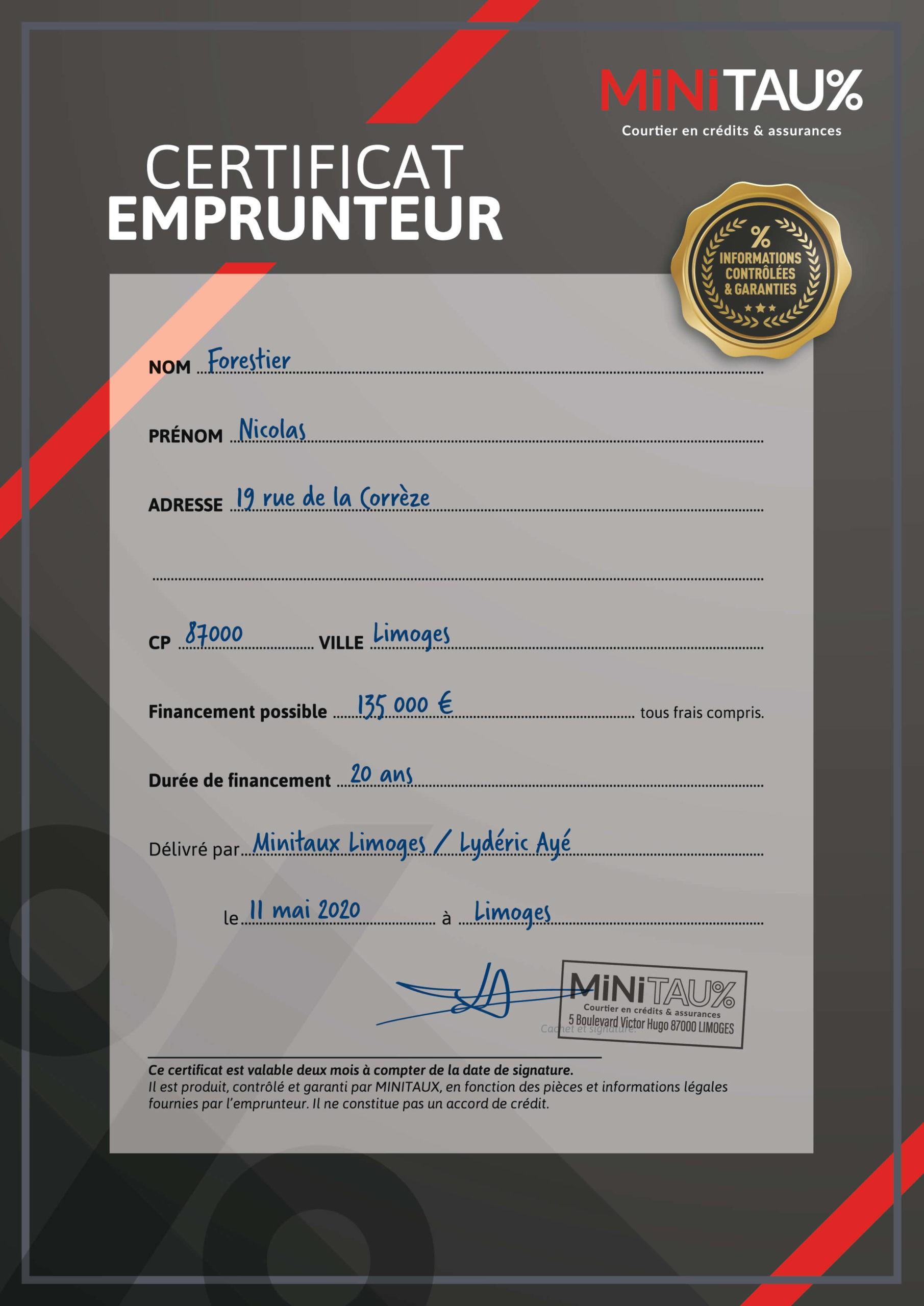 certificat-emprunteur-exemple